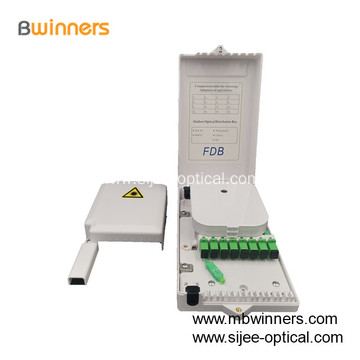 8 Port FTTH Fiber Optic Cable Termination Box Junction Box