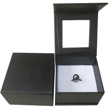 extra large black ring storage jewellery box