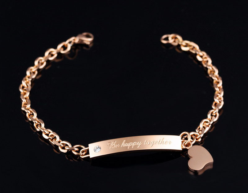 stainless steel couple bracelets