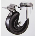Stainless bolt hole brake high temperature caster wheels