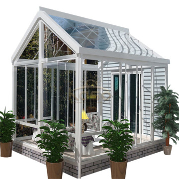 Wall Mounted Sliding Roof Sunroom Winter Garden Glass