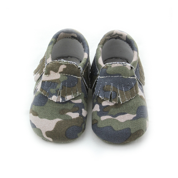Camouflage Moccasin Baby Shoes