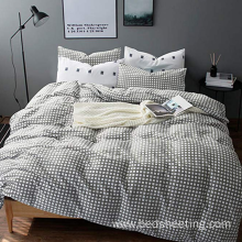 Hot sale for Duvet Covers,Dyed Jacquard Duvet Covers,Printed Duvet Cover Manufacturer in China CVC 25/75 Grey Plaid Duvet Covers supply to United States Manufacturer