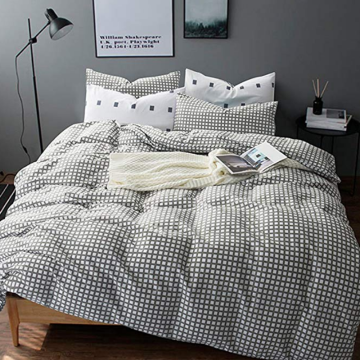 Wholesale Price for Duvet Covers,Dyed Jacquard Duvet Covers,Printed Duvet Cover Manufacturer in China CVC 25/75 Grey Plaid Duvet Covers export to Russian Federation Manufacturer