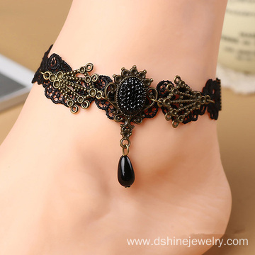 Handmade Woven Lace Anklet Bracelet Party Jewelry For Bridal