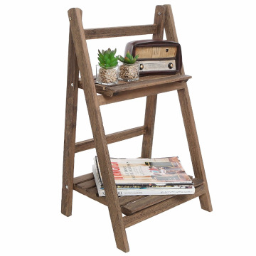 Amazon hot selling 2-Tier wooden Plant Stand shelf