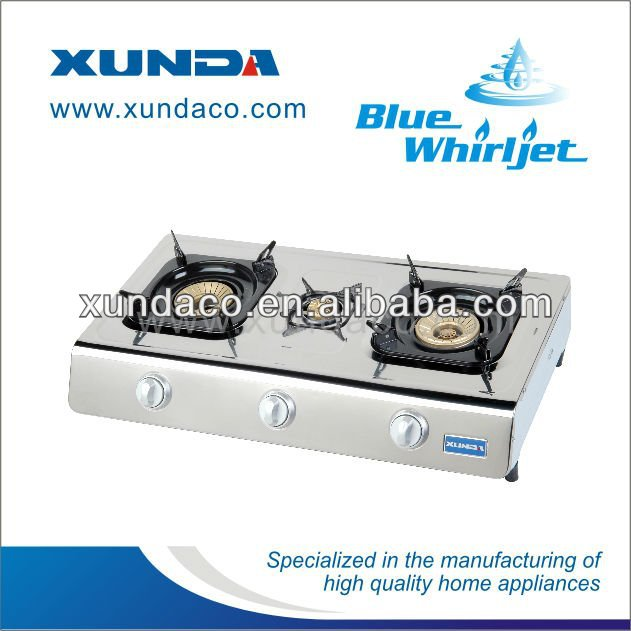 3 Burner Tabletop SS Gas Cooker Gas Stove