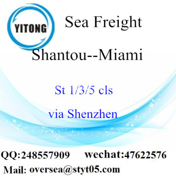 Shantou Port LCL Consolidation To Miami