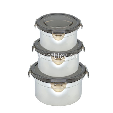 Stainless Steel Food Container Set With Lock Lid