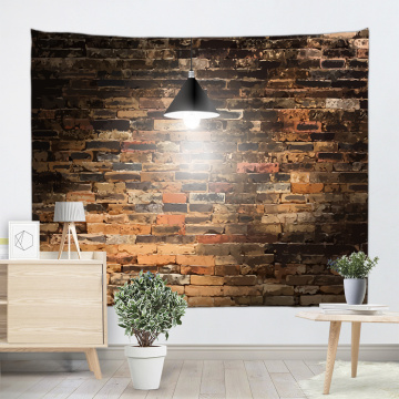 Vintage Light Brick Wall Tapestry Industrial Style Tapestry Wall Hanging Polyester 3D Print Tapestry for Livingroom Bedroom Home