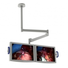 Hospital monitor and display mechanical arm