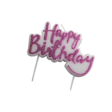 Conjoined practical birthday letter candle