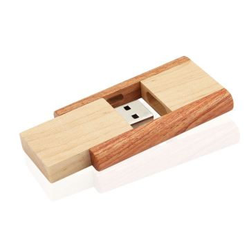 swivel wooden usb flash drive promotional