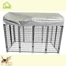 Hot sale reasonable price for Welded Wire Dog Kennel Black Pet Dog House With Wagerproof Cover supply to United States Minor Outlying Islands Manufacturer
