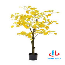 Silk Leaves Artificial Ginkgo Tree