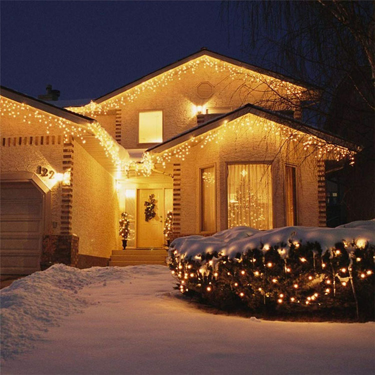 christmas new style led icicle light dripping icicle lights home depot