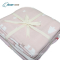 Cute Print Embroider Baby Multilayer Blanket