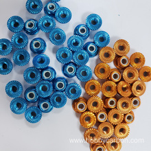 M3M4M5 serrated Flange Aluminum Fasteners For Drone