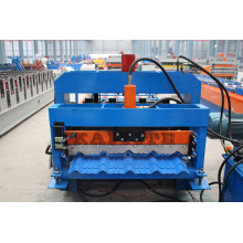 Supply for Colorful Steel Glazed Tile Roll Forming Machine High Speed Metal Roof Roll Forming Machine export to China Hong Kong Factories