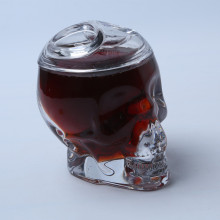 Skull Head Glass Candy Jar/Sugar Pot with Lid