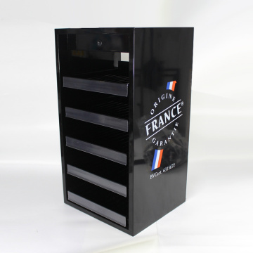 Acrylic cigarette display dispenser with customized cigarette cabinet