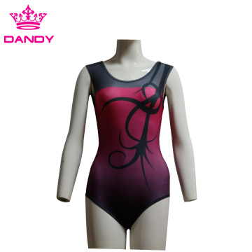 Zarokên Sêwirandî yên Sublimated Spandex Leotard Ji Bo Training
