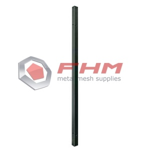Green Galvanized Metal Round Post for Fence