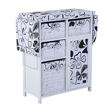 Factory Wicker Paulownia Wood Storage Cabinet Folding Ironing Board