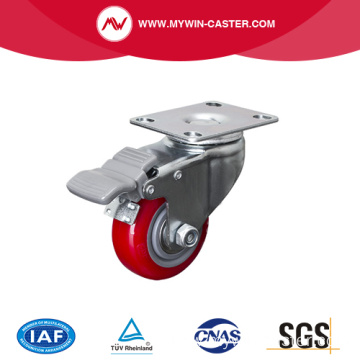 Light 2.5 Inch 80Kg Plate Brake TPU Caster