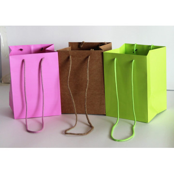 Flower paper bags with handles