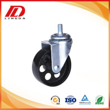 3 inch thread stem iron caster wheels