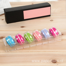 Custom Plastic Packaging Macarons Box With Dispaly Tray