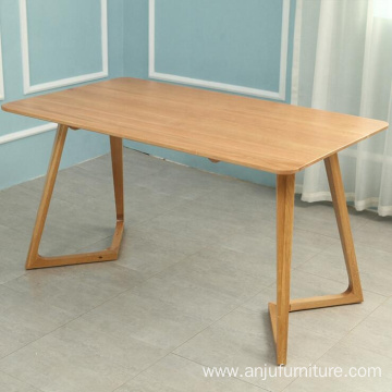 Factory Oak Dining Table Set Modern