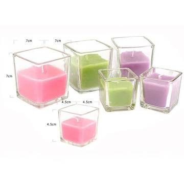 paraffin wax material square shaped colorful scented candle