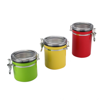 Stainless Steel Coffee Beans Canister With Lid