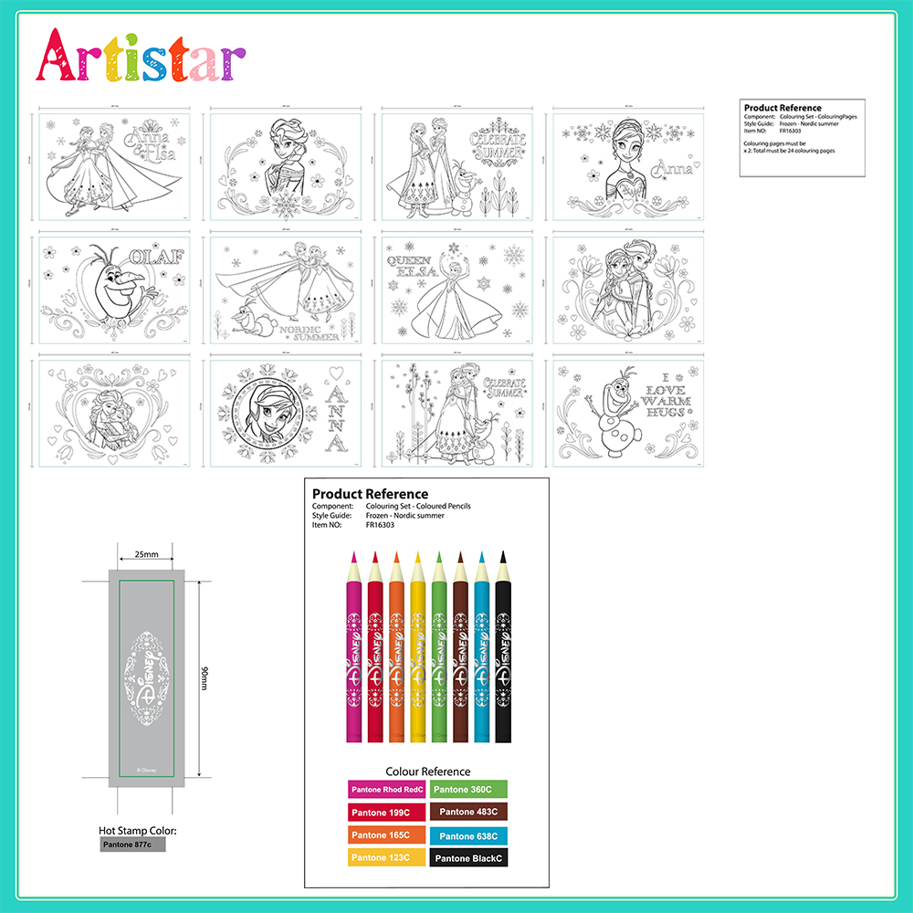 Disney Frozen Colouring Set 04