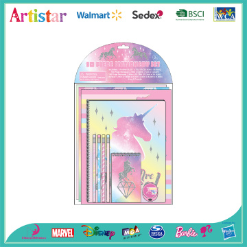 UNICORN 10 piece stationery set