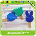 2014 lastest new design erasers Popsicle shaped eraser