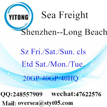 Shenzhen Port Sea Freight Shipping To Long Beach