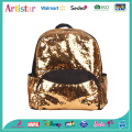golden color sequins backpack