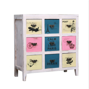 Bathroom vanity Storage wooden cabinet 9 drawers