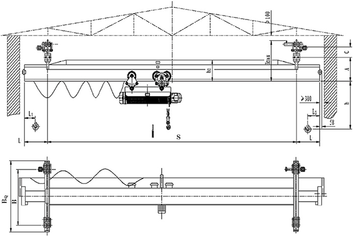 Single Girder Suspended Electric Crane