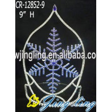 Leading for China Christmas Snowflake Round Crowns, Candy Pageant Crowns, Party Hats. Holiday Big Snowflake Christmas Crowns supply to Bulgaria Factory