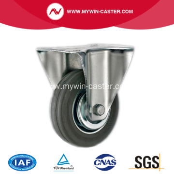 4'' Plate Rigid Gray Rubber Iron core Caster