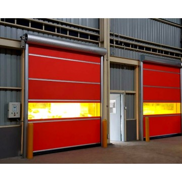 PVC Curtain Automatic Rapid Rolling up Door