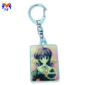 Metal stainless iron custom simple resin keychain