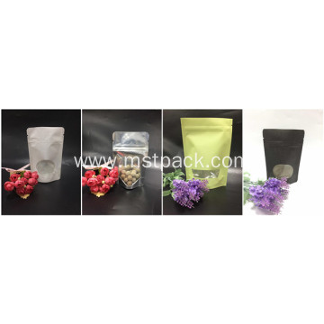 Plastic Or Paper Stand Up Pouch With Window
