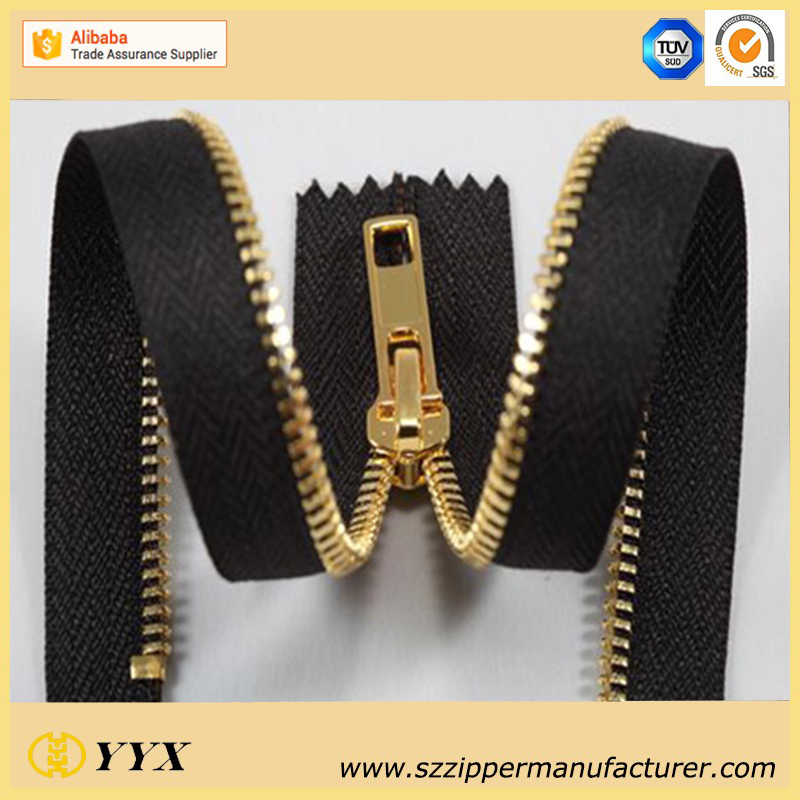 Gold Teeth Metal Zipper