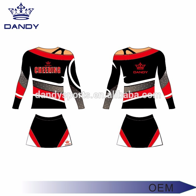 Sublimation printed cheer uniform