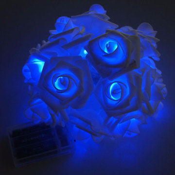 Festival Decoration Blue Led Rose Flower Light